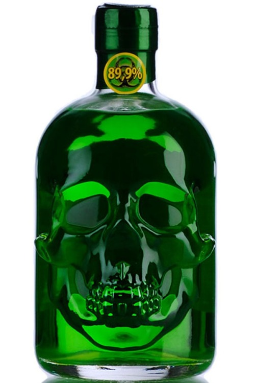 "wipe-o-u-t:  Hamlet ""Hardcore"" Absinthe…a horrible Absinthe brand, but the bottle is on point!"