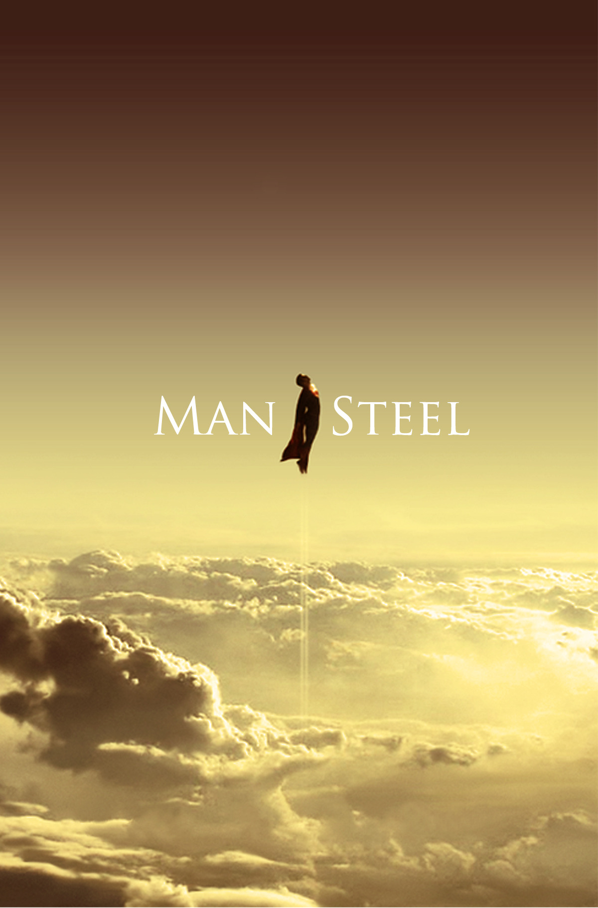 parislemon:  fuckyeahmovieposters:  Man of Steel by Jeferson Barbosa  Brilliant.  I. Can't. Wait.