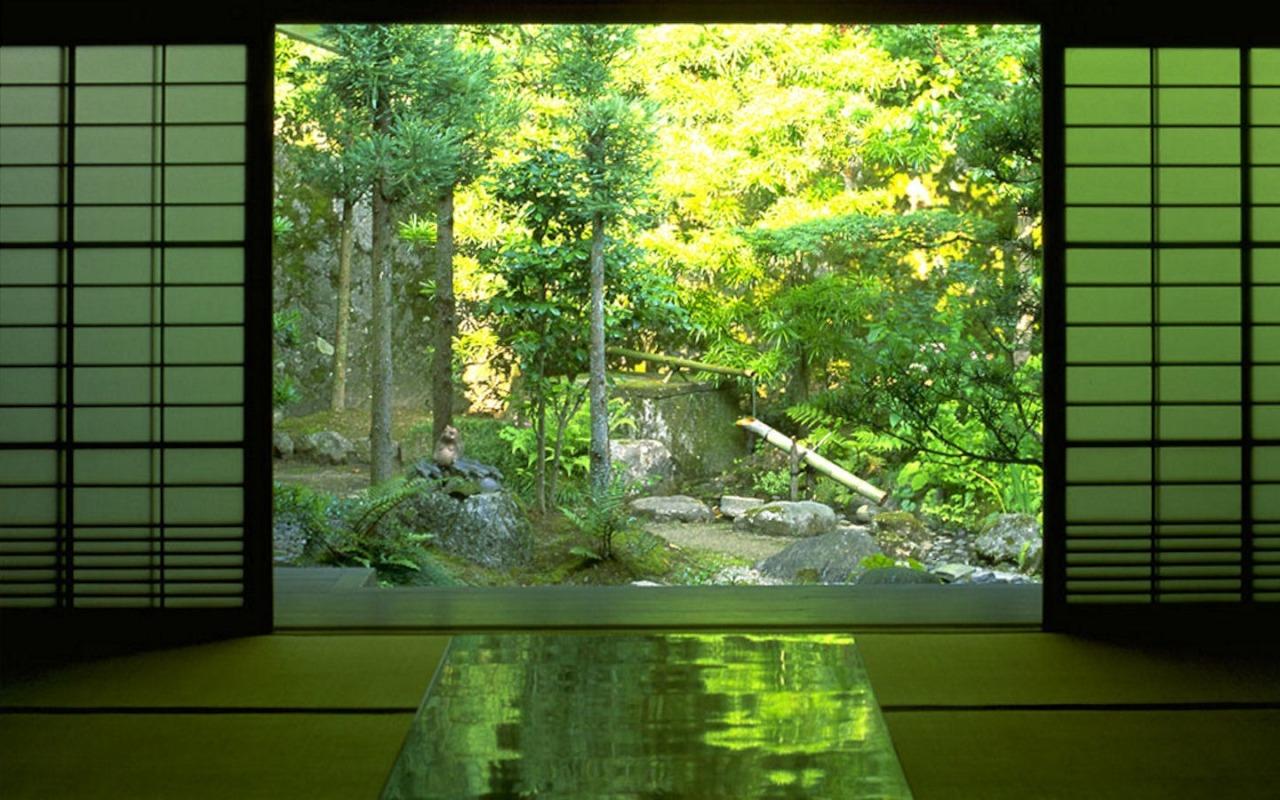 Scenery zen japanese garden japanese house beifongkendo for Japanese zen garden backyard