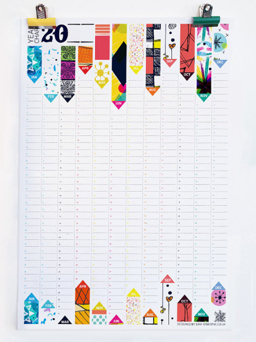Wall Planner by Etsy seller Sam Osborne