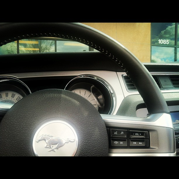 I guess I'm driving the #Mustang #Convertible for work today.