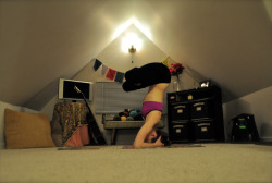 Headstand in lotus.