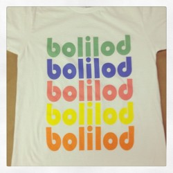 5 color water-based print from today for #bolilod www.bolilod.com #screenprinting #petesprintshop #printing #tshirts