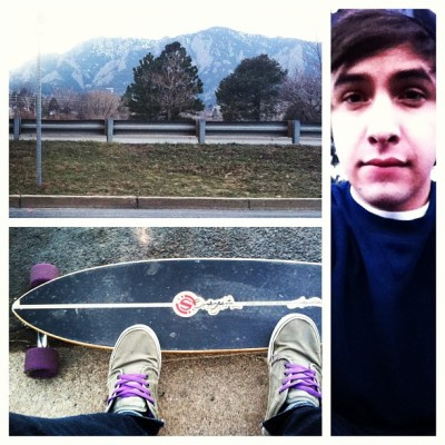 Staying right by the foot of the mountains in Boulder.  Longboarding is going to be perfect. #boulder #colorado #mountains #longboard #longboarding #board #skate #original #nature #beautiful