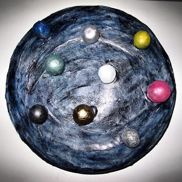 💫Out of this world🌌 #space #cake #planets #cakeballs #flourshop