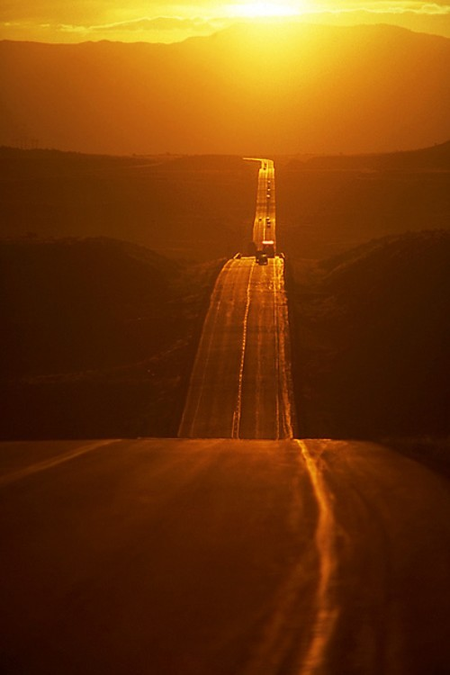Highway into the sunset