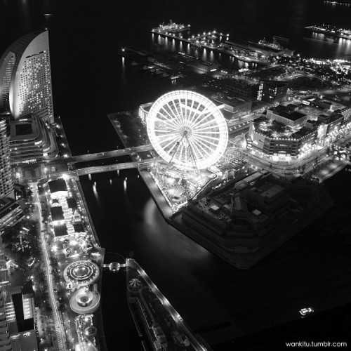 Cosmo world at Yokohama   結果BWにしちゃった。w