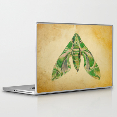 Oleander Hawk Moth laptop and iPad skin