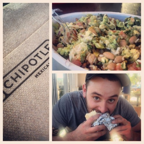 #picstitch #chipotle Grub time with my booski! @LJackson716✌💚🌵☀