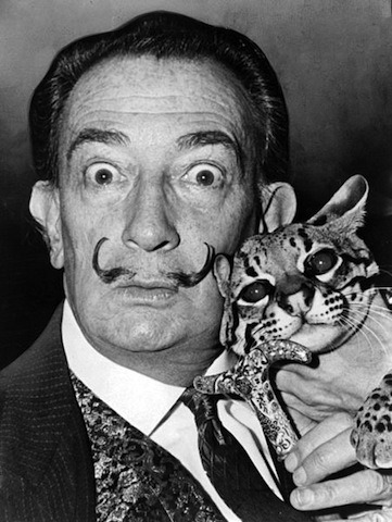 laughingsquid:  Photos of Famous Artists With Their Cats
