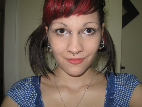 "Name: HaileyAge: 18City: New Westminster BCPiercings Shown: Bridge, Septum, 1"" LobesPiercings Not Shown: Smiley, Tongue Web, Top & Bottom Navel, Nipples, Cartilage, 2nd Hole.Retired Piercings: Tongue x2, Hips x4, Treasure Trail, Labret, Monroe, Many Ear Holes, Nostril. Submitted by kobracommander.tumblr.com"
