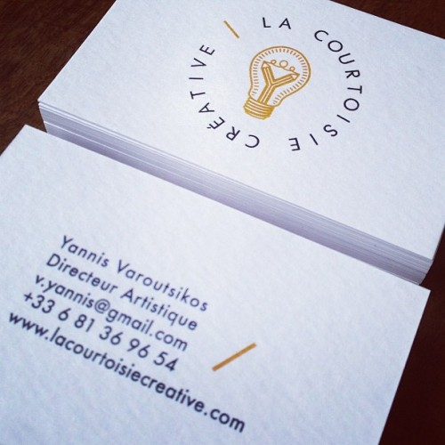 #lacourtoisiecreative new business card for a new web site !!! www.lacourtoisiecreative.com !!!