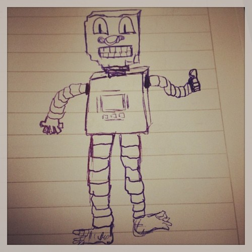 El copy es un robot. #vishorocks #draw #drawing #blue #bnn #iphonesia #picoftheday #photooftheday #statigram  (en Banana México)