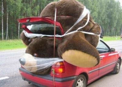 al-grave:  godotal:  Is this even safe?  It's not safe. That bear is going to suffocate with that plastic wrap covering his nose and mouth.
