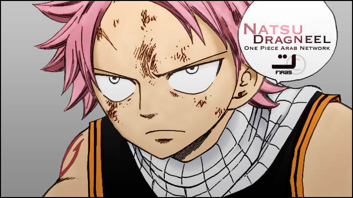 This is an old coloring of Natsu by ~FirasAlJuhani