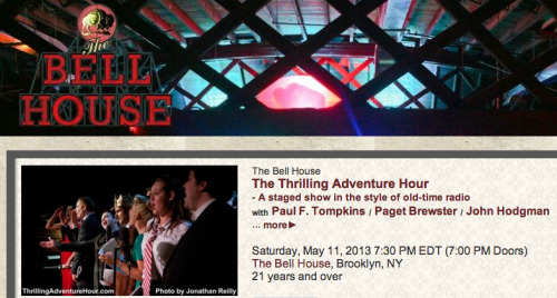 The Thrilling Adventure Hour returns to Brooklyn in May