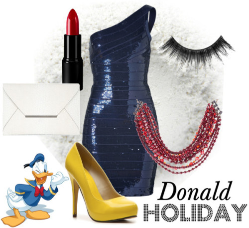 Donald Holiday by survivingtwentytwelve featuring black eye makeup