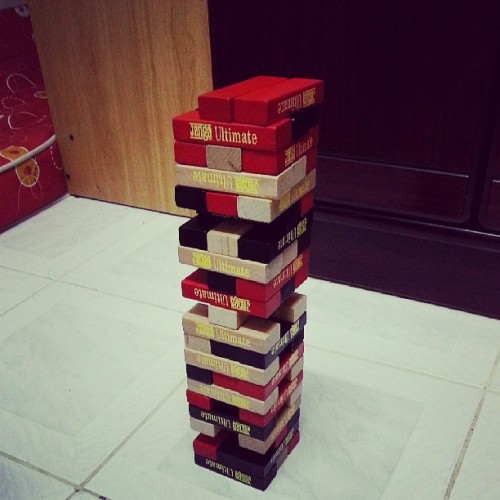 Ultimate Jenga ftw! :) #happyweekend