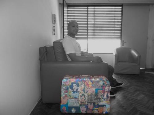 My exclusive and only one in the world suitcase popart.