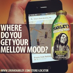 Where do you get your Marley's Mellow Mood? Can't find us? Drinkmarley.com/store-locator #mellowmood