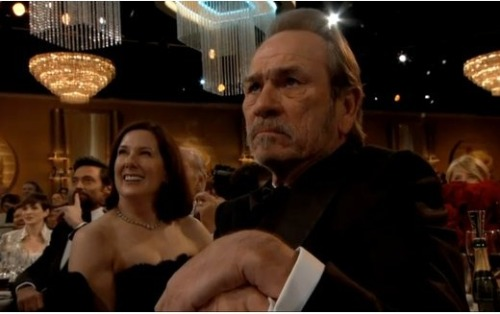 Move over McKayla Maroney. Tommy Lee Jones was clearly not impressed with the 2013 Golden Globe Awards. LOL.