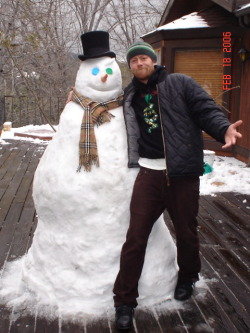 mj-and-his-snowman