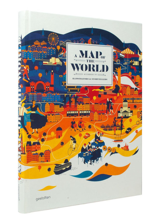 bookstairs:  A Map of the World Publisher: Gestalten / Editor: Antonis Antoniou, R. Klanten, H. Ehmann, H. Hellige This book features a bunch of high-quality map illustrations and graphics created by outstanding illustrators. This new generation of graphic designers, illustrators, and mapmakers are masters of various forms and artisitc styles of illustrative cartography. The book is available for purchase on Amazon.com via: BookStairsFacebook // Twitter // Google+ // Pinterest
