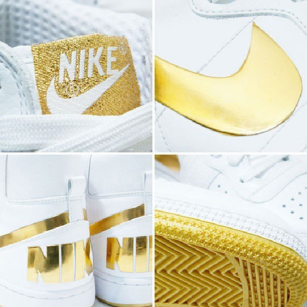 I want these:( #nike #termanatorsupreme #whiteandgold #iwant