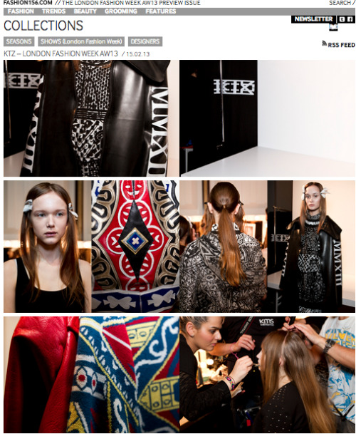 ktzofficial:  Backstage at KTZ | Covered by Fashion 156  I love everything about this collection! The prints and details are insane!  Read more here!