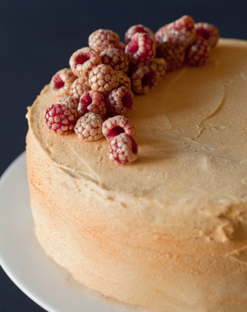 Rose Water Gold Luster Cake