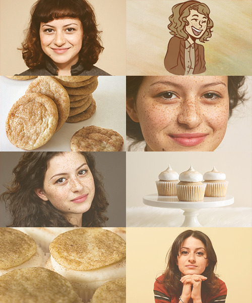 "sistersisterr:  Alia Shawkat as Snickerdoodle ""Doodle""  based off of art by cookiekween   Dawwww, I'd kiss her freckles."