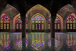 comeseeiran:The collection of colors inside Nasir al-Mulk Mosque in shiraz leaves you in awe.