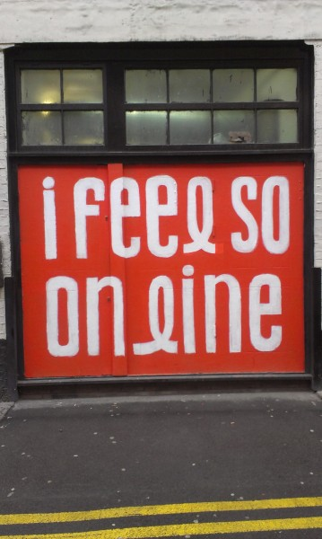Outside Kemistry Gallery, part of the Jean Jullien exhibition