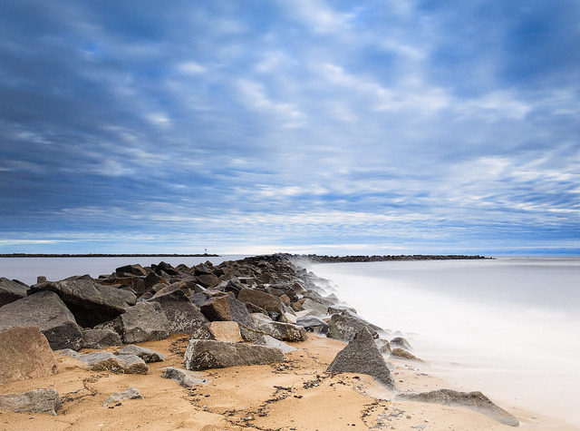 Morning on the South Jetty, Plum Island, Massachusetts
