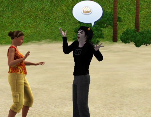 simsbent:  some random girl asked karkat out and he's already scaring her by ranting about grilled cheese????