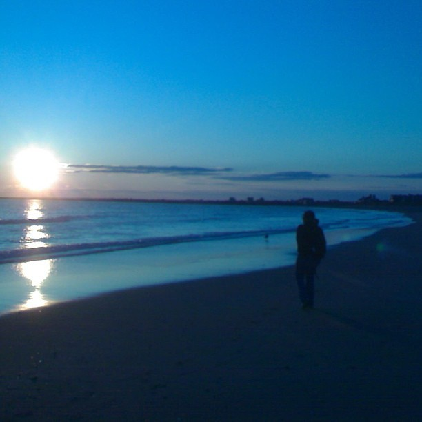 My favorite RI beach. I will see you real soon. #beach #sunset