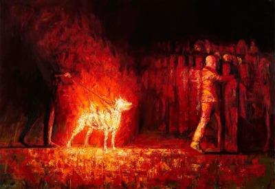 #spyros_verykios, #art, #artist, #painting, #painter, #dog