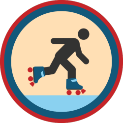 lifescouts:  Lifescouts: Roller-Skating Badge If you have this badge, reblog it and share your story! Look through the notes to read other people's stories. Click here to buy this badge physically (ships worldwide). Lifescouts is a badge-collecting community of people who share their real-world experiences.  Not being the best on me pins I don't really skate nowadays but I had some Fisher Price skates when I was young. We would go and skate around the tennis courts. (Same place I learnt to ride a bike. I'll tell that tale if there is a bike badge.) BADGES: 26
