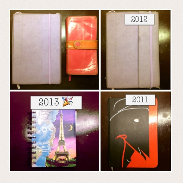 Evolution of my quiet time journal! 2012 journal pretty much reflects how my year went— tough. But can't be any more grateful for it! Thank You for always staying faithful. This season has made truly realize that no matter how much or how long I stray away, my heart and soul will always long for You ❤
