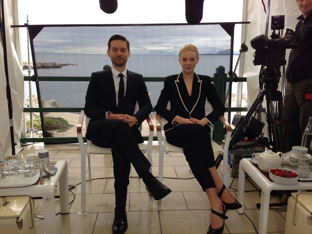 gatsbymovie:  Our Nick and Daisy say hello from Cannes.