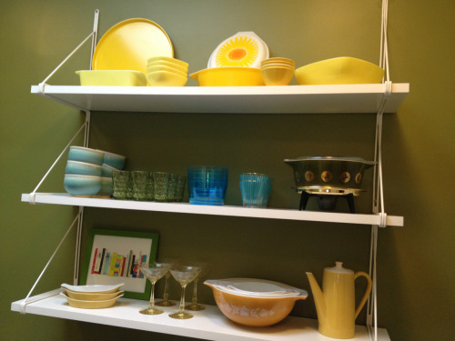 I woke up with a compulsion to rearrange the kitchen shelves.