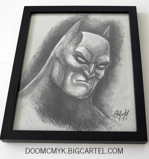 Batman Framed 8x10 Charcoal Drawing - doomcmyk.bigcartel.com