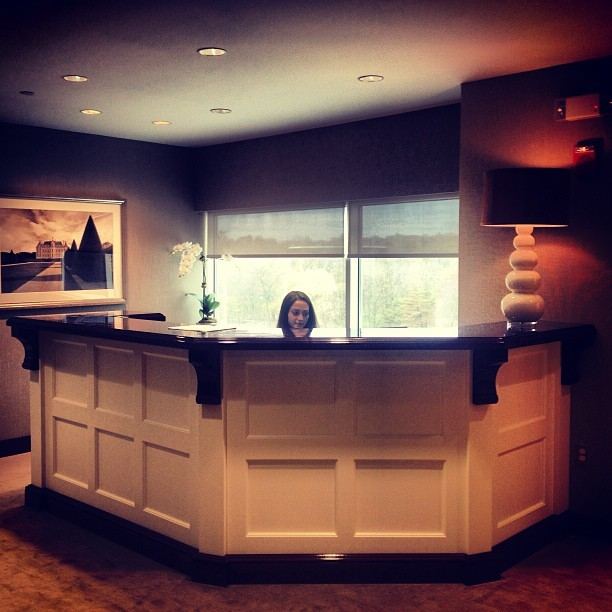 First impressions are everything - our gorgeous new reception desk has finally arrived! (at Houlihan Lawrence Real Estate)