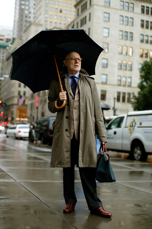 burberry:  Bruce  Photographed by The Sartorialist in New York