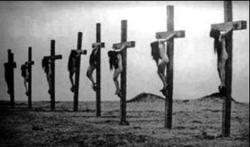 feeble-brain:  Armenian Genocide Christian women put to death on crosses