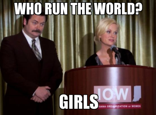 parksandbeyonce:  2.17 Woman of the Year/Run the World (Girls)  Check out our new sister blog!