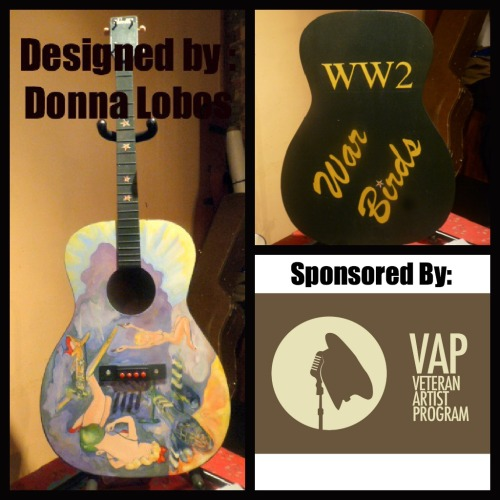 Guitar #1 for our #Music4Maryland Art Guitar shows this fall. This guitar is designed by Donna Lobos from Crofton, MD.