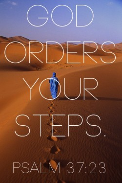 "spiritualinspiration:  ""The steps of a good man are ordered by the LORD, and He delights in his way"" (Psalm 37:23, NKJ).  Oftentimes, people who aren't fulfilling their destiny will try to discourage you from fulfilling yours. They may not do it intentionally, but they'll tell you what you can't do and how things won't work out. They're quick to remind you of all your impossibilities. Your relatives, co-workers and friends may try to talk you out of your dream, but that's because God didn't put that promise in them; He put it in you. You have to remember that other people don't determine your destiny; God does. He holds your destiny in the palm of His hand. If you will keep believing, God will not only bring it to pass, but He will do more than you can ask or think.  Friend, don't let someone else's unbelief keep you from believing. Don't let other people talk you out of your dreams. It's time to get into agreement with God. He says you are well able. He says you are equipped. He says you are qualified. He says you are anointed, called and appointed to fulfill every dream and desire He's placed in your heart!"