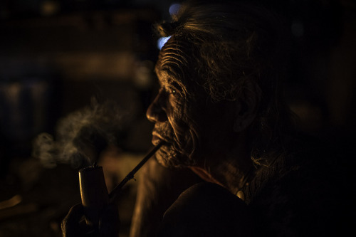 old man apatani smoking a pipe, ziro, arunachel pradesh on Flickr.