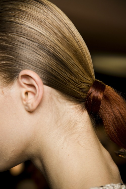 The two-tone ponytail at Alexander Wang. Photo: Mark Leibowitz